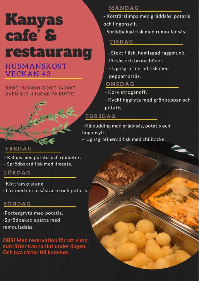 Veckans lunch från Kanyas Café & Restaurang